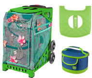 Zuca Sport Bag -  Peek-a-Boo Friends with Gift Lunchbox and Seat Cover (Green Frames)