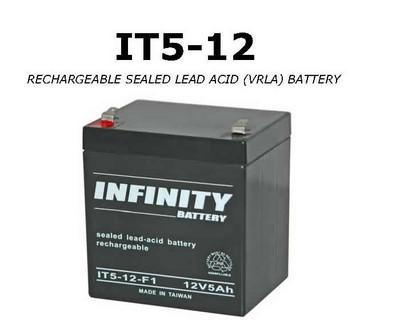 GS Infinity - IT 5-12 F1 - 12volt - 5Ah - F1