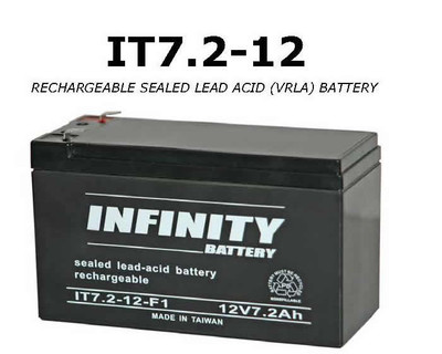GS Infinity - IT 7.2-12 F1 - 12volt - 7.2Ah - F1