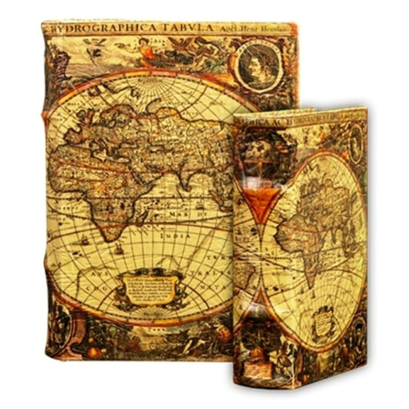 Bk3 old world map book urn with matching memento box urns of bk3 old world map book urn with matching memento box gumiabroncs Image collections