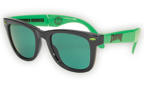 CREATURE PARTY FIRST FOLDING SUNGLASSES BLACK/GREEN
