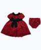 NWT Red Velour Roses Dress