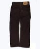 Burgundy Slim Straight Corduroy Pants