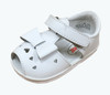 White Leather Bow Sandals