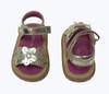 SOLD - Gold Flower Trio Sandals