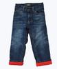 Fleece-Lined Dark Denim Jeans