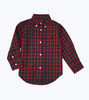 Navy Red Holiday Button Down Shirt