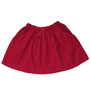 Red Pinwale Corduroy Skirt