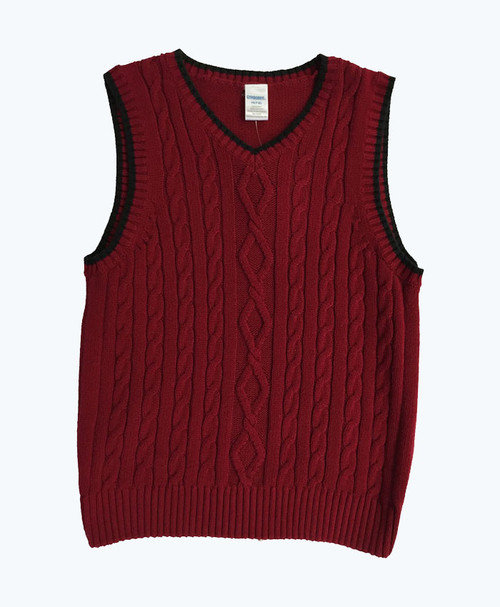 Red & Black Sweater Vest