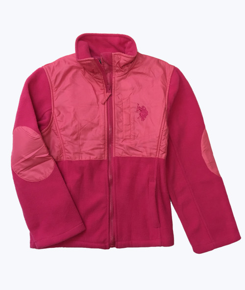 Pink Patch Fleece Jacket
