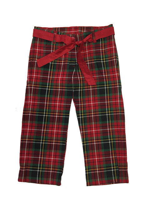 Red and Green Holiday Plaid Pants