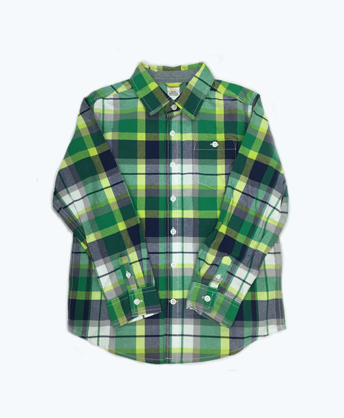 Plaid Button Down Long Sleeve Shirt (GB)