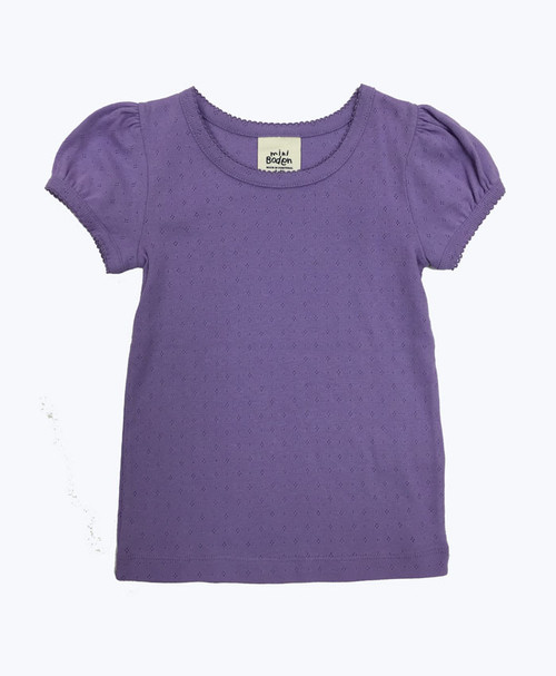 SOLD - Lilac Pointelle Shirt