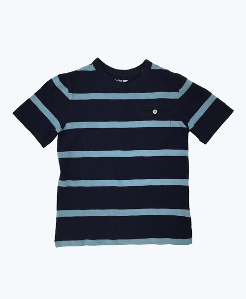 SOLD - Navy/Teal Stripe T-Shirt