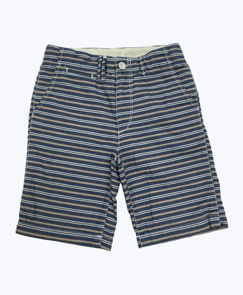 Blue & Brown Stripes Shorts