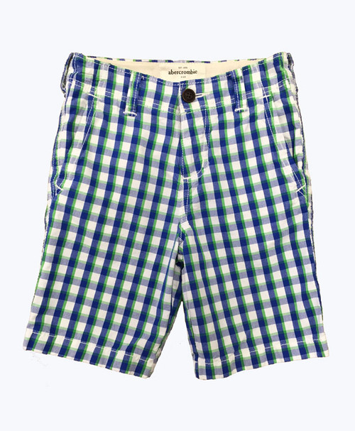 Blue Green Plaid Longboard Shorts