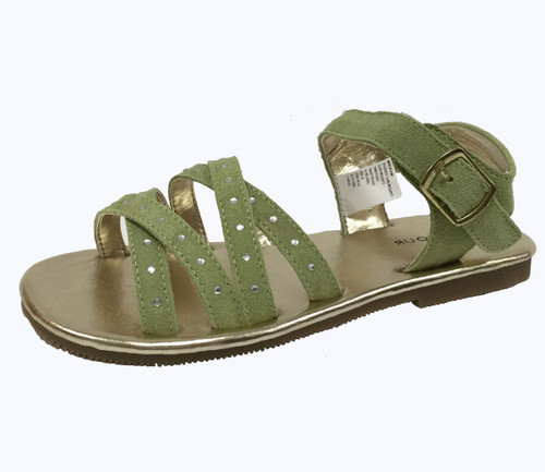Lime Rhinestone Sandals