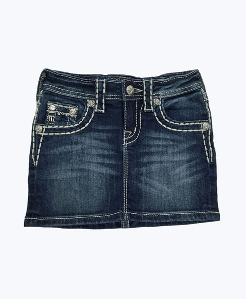 SOLD - Bling Studded Denim Skirt