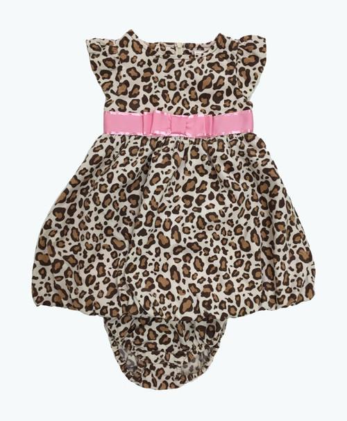 Bow Leopard Bubble Dress