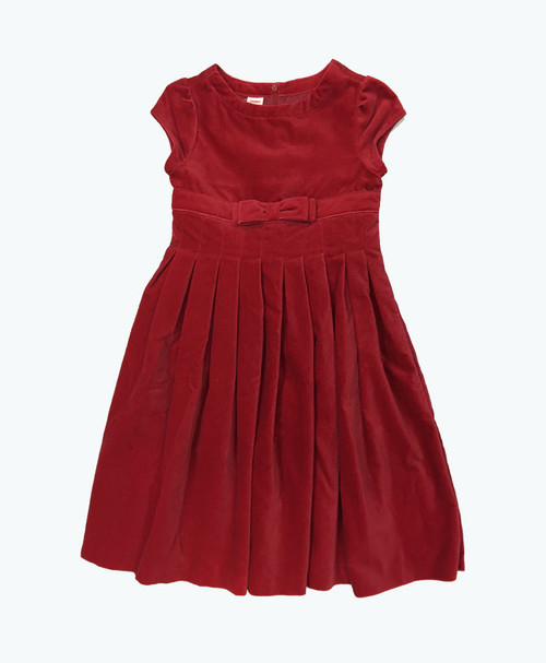 NWT Red Pleated Velour Dress
