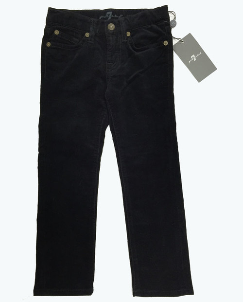 5-Pocket Black Corduroy Pants