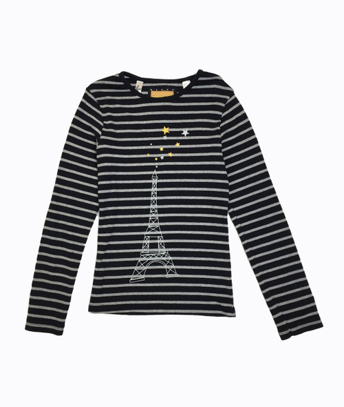 Eiffel Tower Black Stripes Shirt