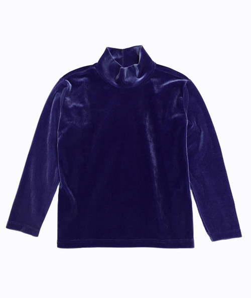 Purple Velvet Mockneck Shirt