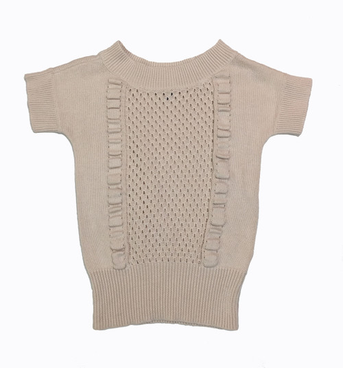 Oatmeal Short Sleeve Sweater