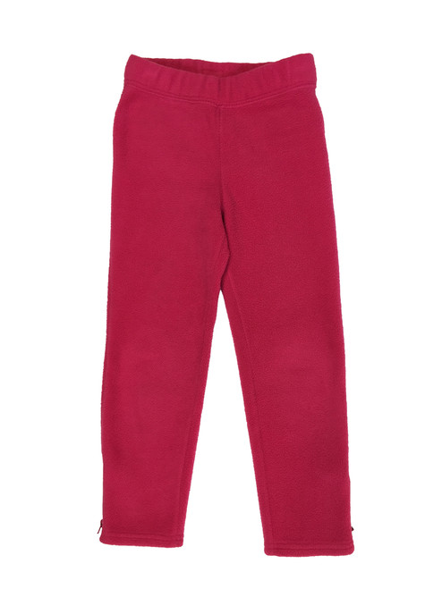 Hot Pink Zip Ankle Fleece Pants