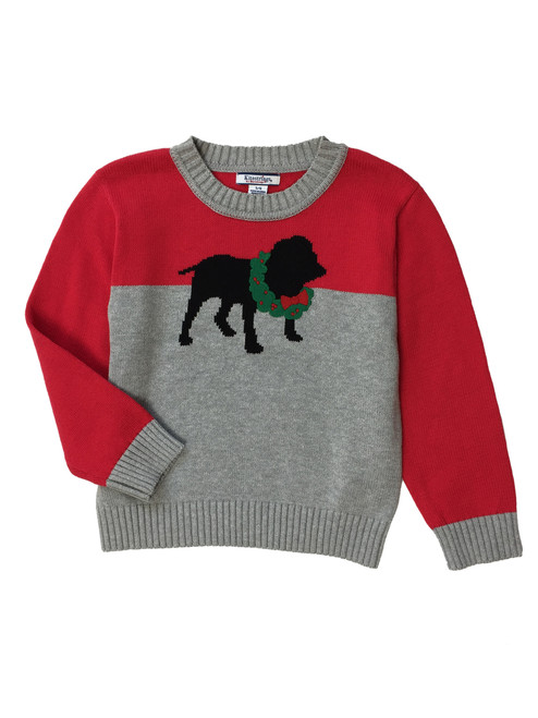 Puppy Holiday Pullover Sweater