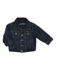 Jersey-Lined Denim Jacket