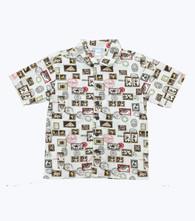 Monkey Travel Stamp Button Down Shirt