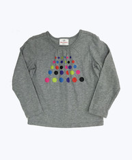 Gray Polkda Dots Shirt