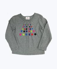 Gray Polkda Dots Shirt