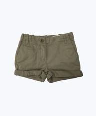 Cuffed Khaki Shorts