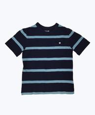 SOLD - Navy/Teal Stripe T-Shirt