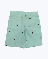 Embroidered Nautical Shorts
