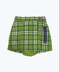 Green and Pink Plaid Skirt