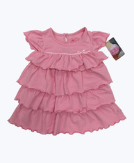 Pink Tiered Ruffle Dress