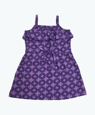 Purple Ruffle Organic Dress