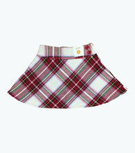 Lilac & Red Plaid Skort