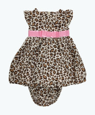 Bow Leopard Bubble Dress