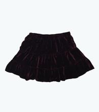 Burgundy Velour Skirt