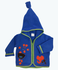 Animal Appliqué Fleece Jacket