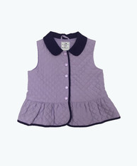 Lilac Quilted Peplum Vest