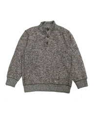 Heather Brown Fleece Pullover