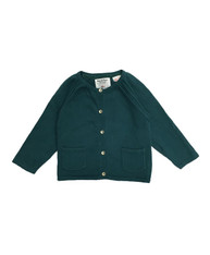 SOLD - Basil Green Pocket Cardigan