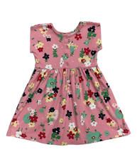Grapefruit Pink Floral Dress