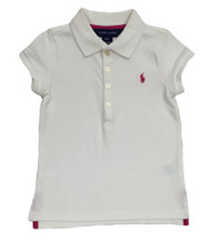 Toddler Girl White Polo Shirt