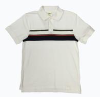 Boy Stripes Polo - White